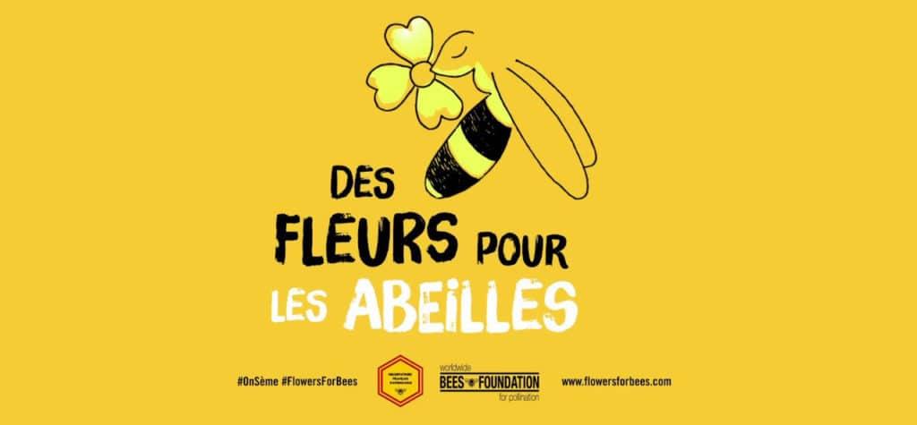 """Conscient de sa responsabilité sociale d'entreprise, In Extenso a décidé de renouveler son partenariat pour la troisième année consécutive pour l'opération """"Des Fleurs pour les Abeilles"""""""